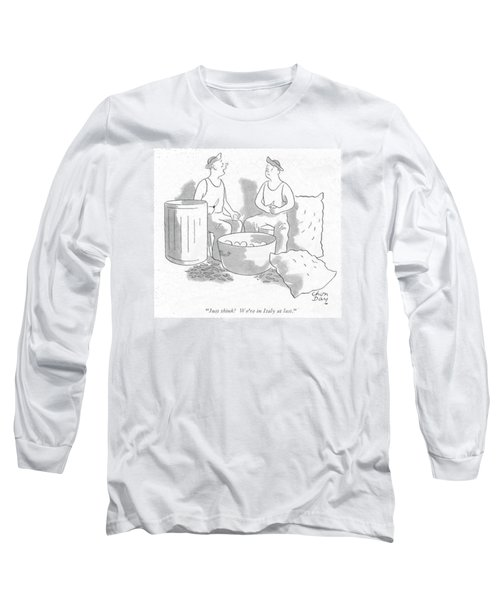 Just Think! We're In Italy At Last Long Sleeve T-Shirt by Chon Day