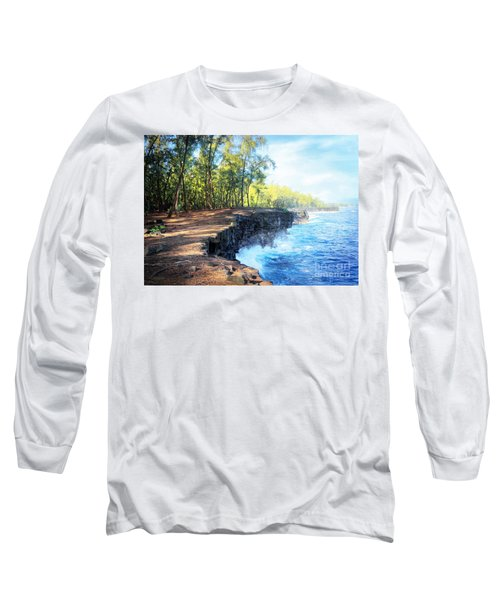 Kaloli Point Hawaii Long Sleeve T-Shirt by Ellen Cotton