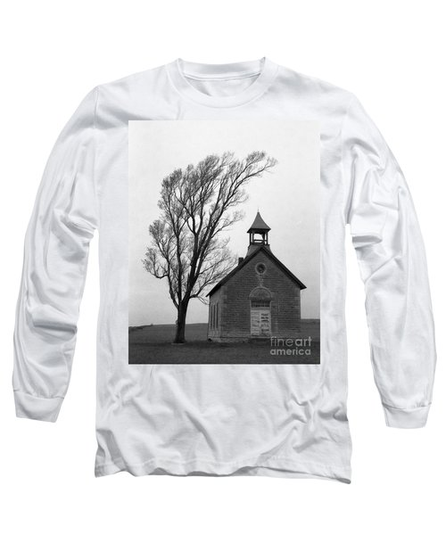 Kansas Schoolhouse Long Sleeve T-Shirt