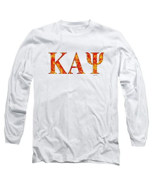 Long Sleeve T-Shirt featuring the digital art Kappa Alpha Psi - White by Stephen Younts