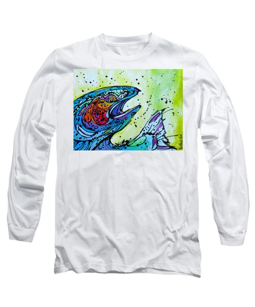 Long Sleeve T-Shirt featuring the painting Karl by Nicole Gaitan