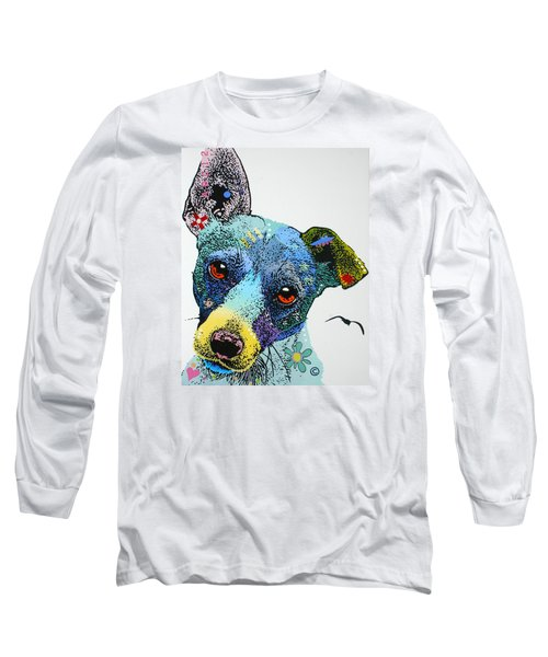 Long Sleeve T-Shirt featuring the painting Jack by Luis Ludzska