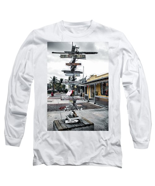 Key West Wharf Long Sleeve T-Shirt by Ellen Heaverlo
