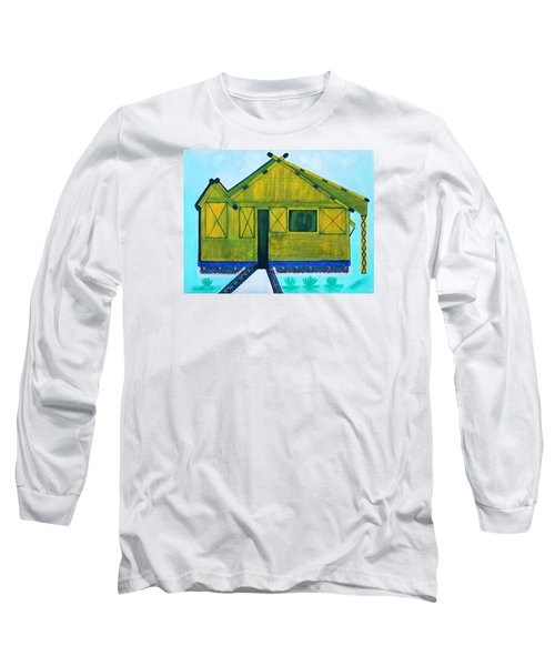 Long Sleeve T-Shirt featuring the painting Kiddie House by Lorna Maza