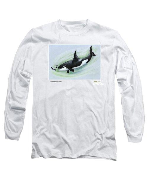 Killer Whale Feeding Long Sleeve T-Shirt