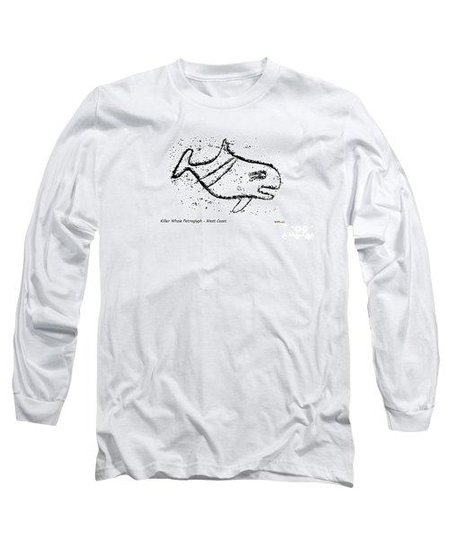 Killer Whale Petroglyph Long Sleeve T-Shirt