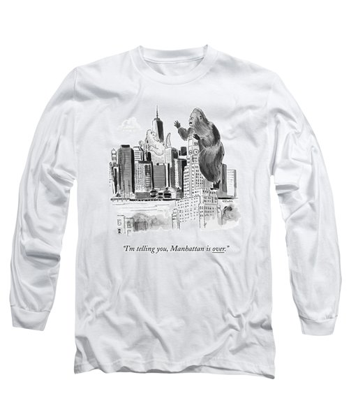 King Kong, Atop The Williamsburgh Savings Bank Long Sleeve T-Shirt