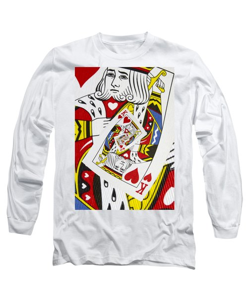King Of Hearts Collage Long Sleeve T-Shirt