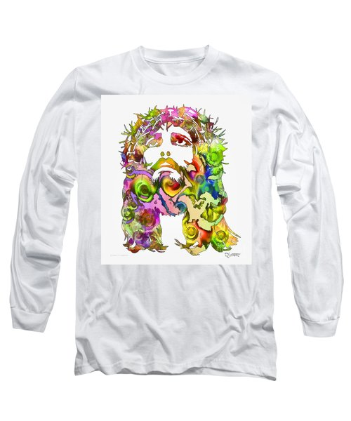 Long Sleeve T-Shirt featuring the painting King Of Not Of This World by Dave Luebbert