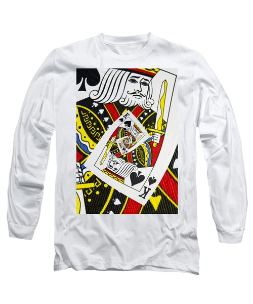 King Of Spades Collage Long Sleeve T-Shirt