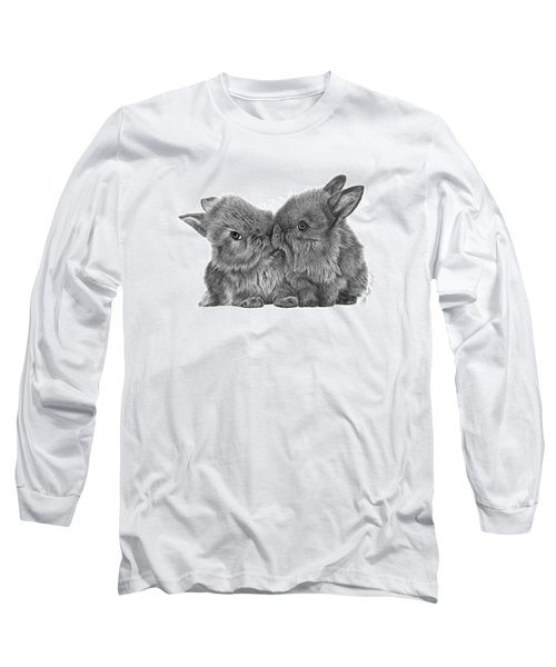 Kissing Bunnies - 035 Long Sleeve T-Shirt by Abbey Noelle