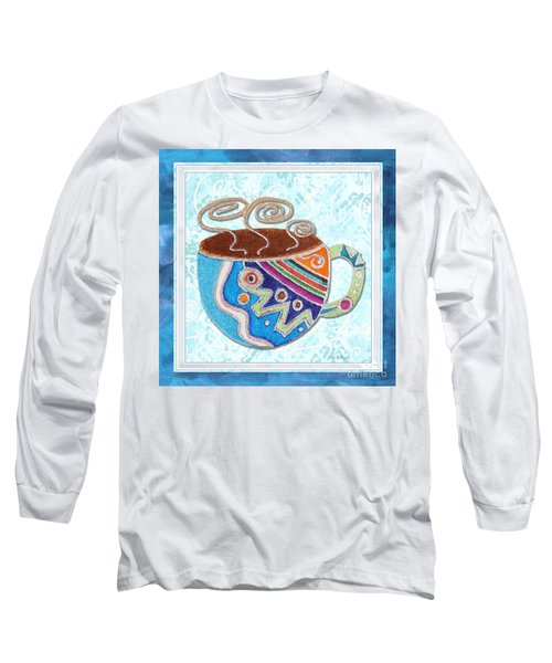 Kitchen Cuisine Hot Cuppa No20 By Romi And Megan Long Sleeve T-Shirt