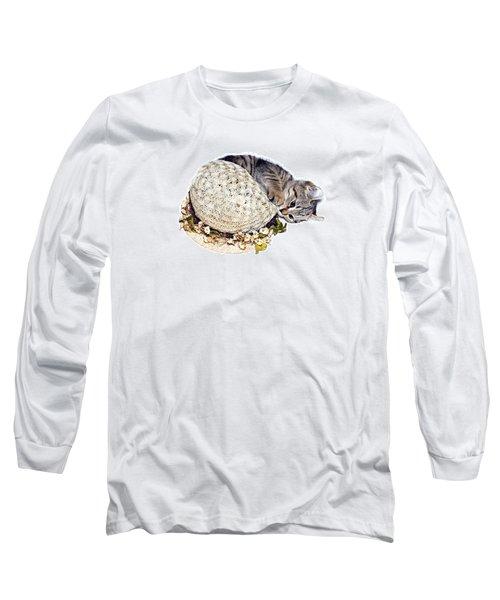 Long Sleeve T-Shirt featuring the photograph Kitten With An Easter Bonnet by Susan Leggett