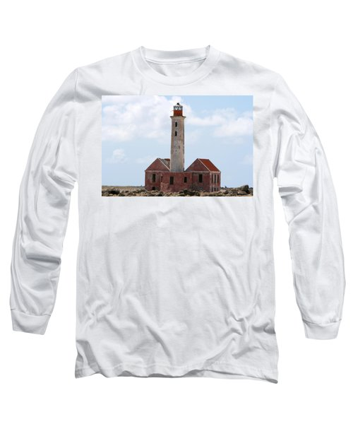 Long Sleeve T-Shirt featuring the photograph Klein Curacao Lighthouse by David Millenheft