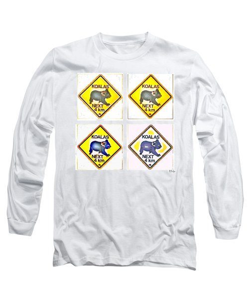 Koalas Road Sign Pop Art Long Sleeve T-Shirt