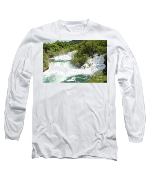 Krka Waterfalls Croatia Long Sleeve T-Shirt