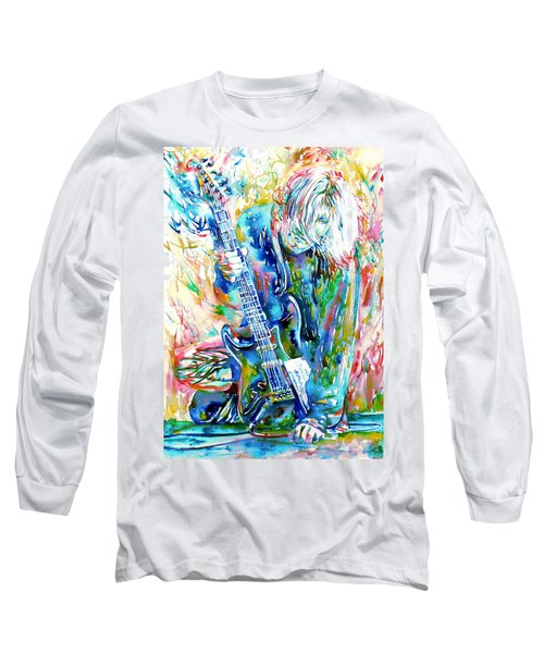 Kurt Cobain Portrait.1 Long Sleeve T-Shirt by Fabrizio Cassetta