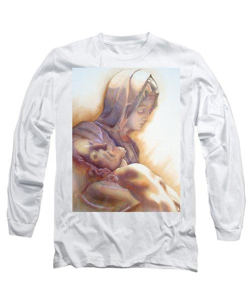 La Pieta By Michelangelo Long Sleeve T-Shirt