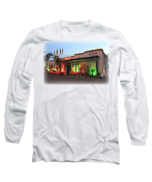 Long Sleeve T-Shirt featuring the photograph La Posta De Mesilla New Mexico by Barbara Chichester