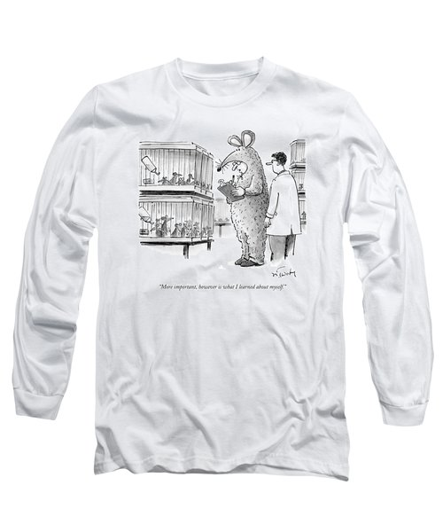 Lab Technician Dressed In A Mouse Costume Long Sleeve T-Shirt