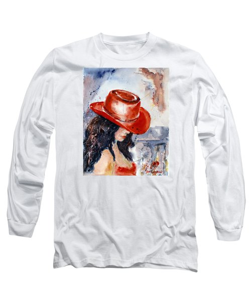 The Red Hat Long Sleeve T-Shirt by Genevieve Brown