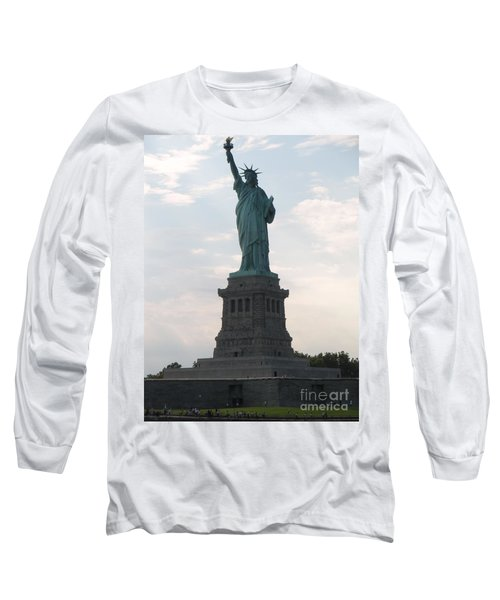 Long Sleeve T-Shirt featuring the photograph Lady Liberty by Luther Fine Art