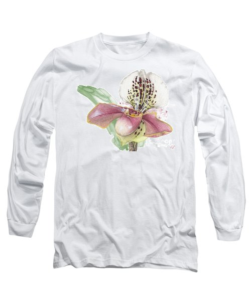 Ladys Slipper - Orchid 14 - Elena Yakubovich Long Sleeve T-Shirt