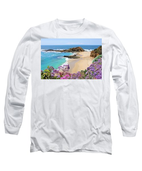 Laguna Beach Coastline Long Sleeve T-Shirt by Jane Girardot