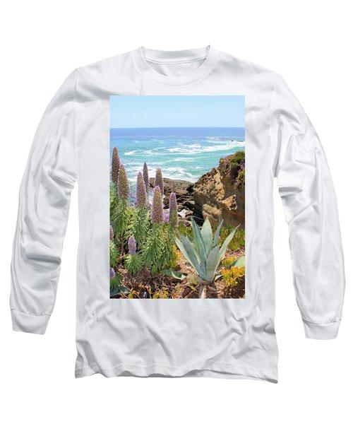 Laguna Coast With Flowers Long Sleeve T-Shirt