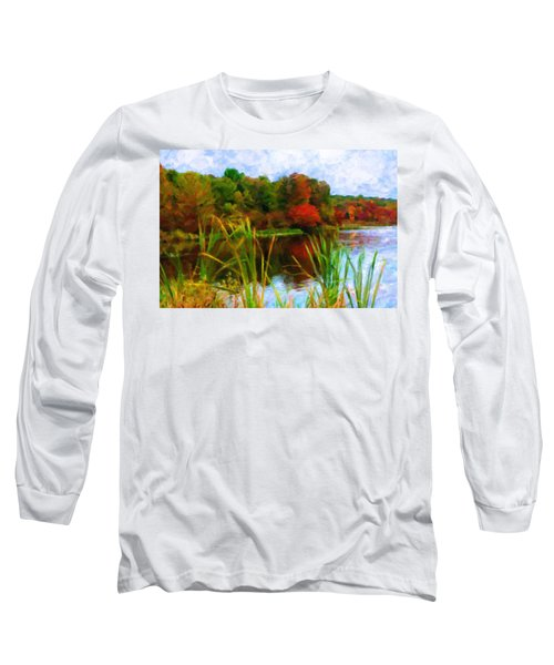 Lake In Early Fall Long Sleeve T-Shirt
