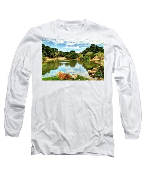 Lake Lucky Long Sleeve T-Shirt by Bob Hislop