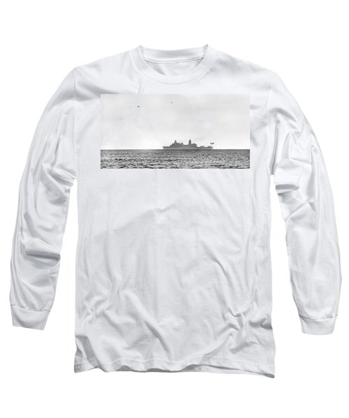 Landing On The Horizon Long Sleeve T-Shirt by Betsy Knapp