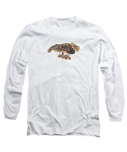 Large Blotched Salamander2 Long Sleeve T-Shirt by Cindy Hitchcock