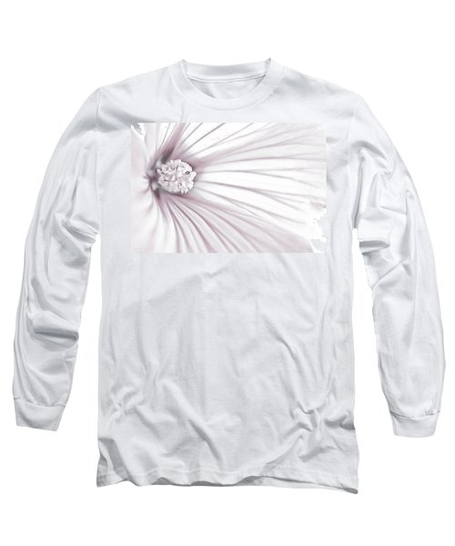 Long Sleeve T-Shirt featuring the photograph Lavatera Flower Stamen Macro  by Sandra Foster