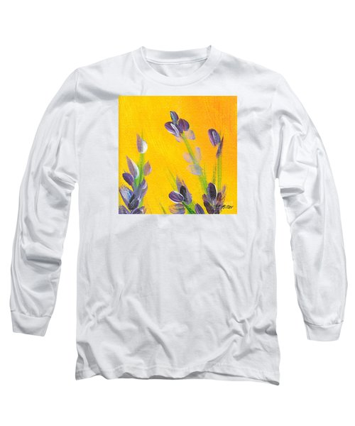 Long Sleeve T-Shirt featuring the photograph Lavender - Hanging Position 2 by Val Miller