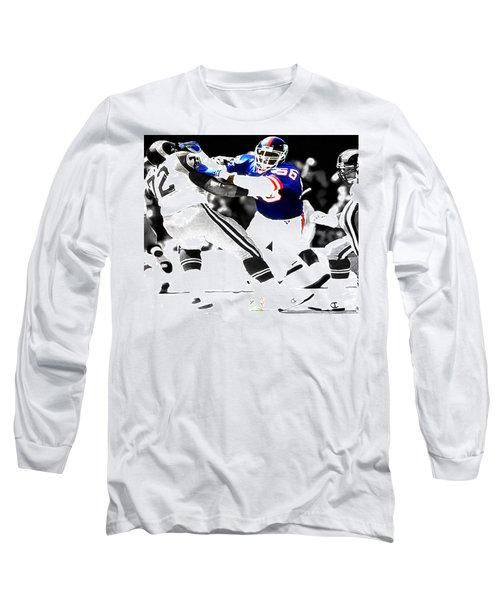 Lawrence Taylor Out Of My Way Long Sleeve T-Shirt by Brian Reaves