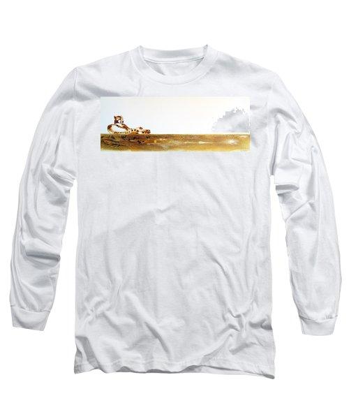 Lazy Dayz Cheetah - Original Artwork Long Sleeve T-Shirt