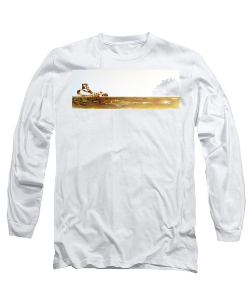 Lazy Dayz Cheetah - Original Artwork Long Sleeve T-Shirt