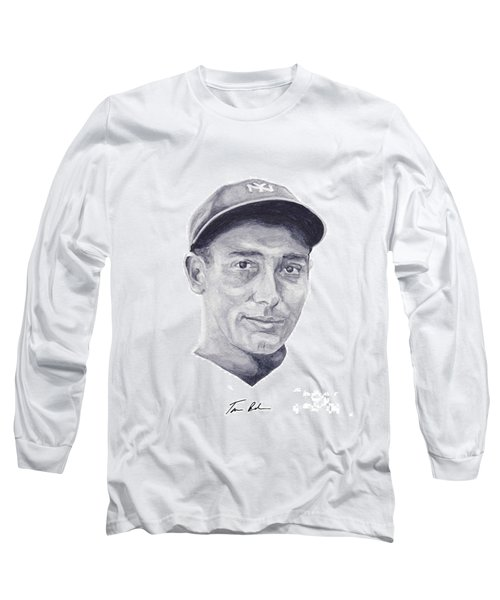 Long Sleeve T-Shirt featuring the painting Lazzeri by Tamir Barkan