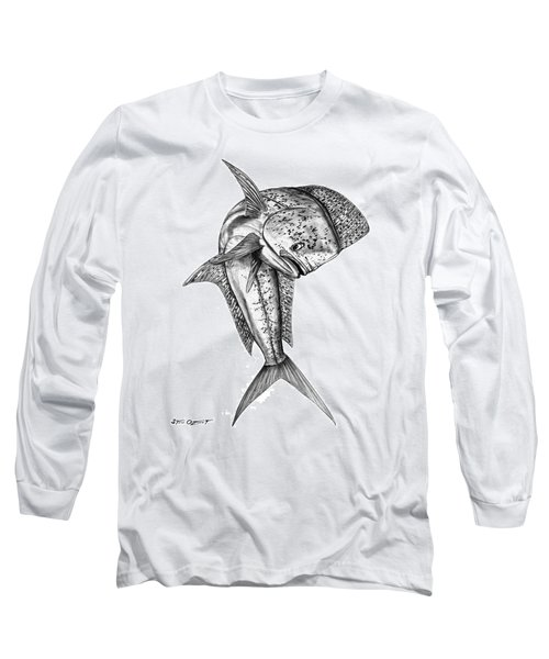 Leaping Dolphin  Long Sleeve T-Shirt by Steve Ozment