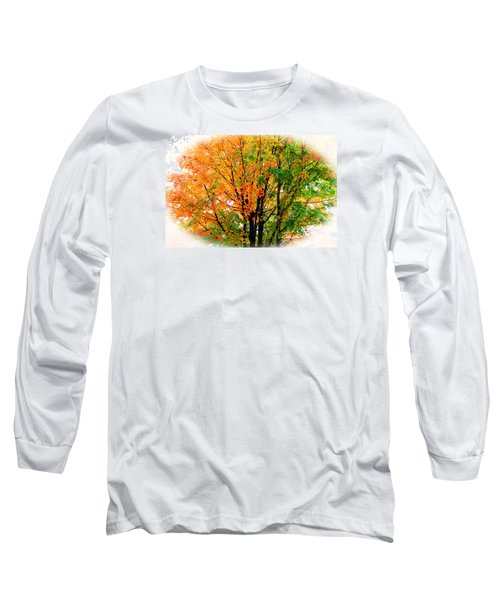 Leaves Changing Colors Long Sleeve T-Shirt by Cynthia Guinn
