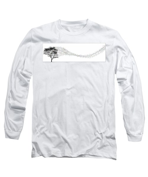 Long Sleeve T-Shirt featuring the digital art Leaves In The Wind... by Tim Fillingim