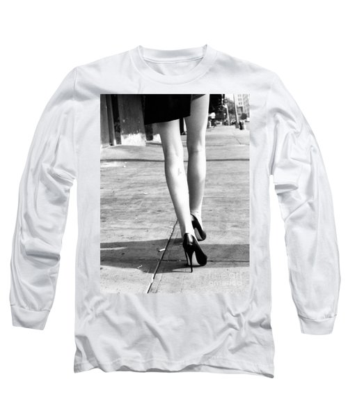 Long Sleeve T-Shirt featuring the photograph Legs New York by Rebecca Harman