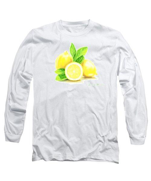 Lemons Long Sleeve T-Shirt by Veronica Minozzi