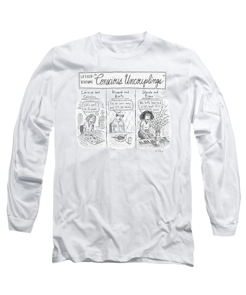 Lesser-known 'conscious Uncouplings Three Panels Long Sleeve T-Shirt by Roz Chast