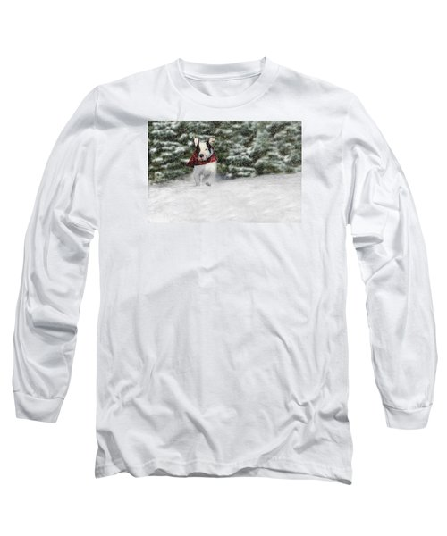 Snow Day Long Sleeve T-Shirt by Shelley Neff
