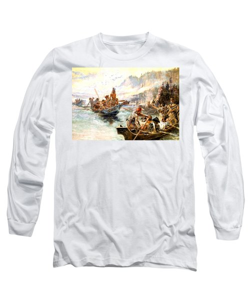 Lewis And Clark On The Lower Columbia  Long Sleeve T-Shirt