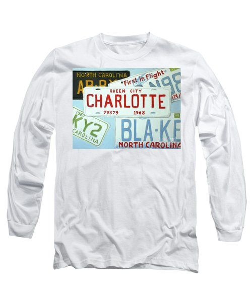 License Plates Long Sleeve T-Shirt by Stacy C Bottoms