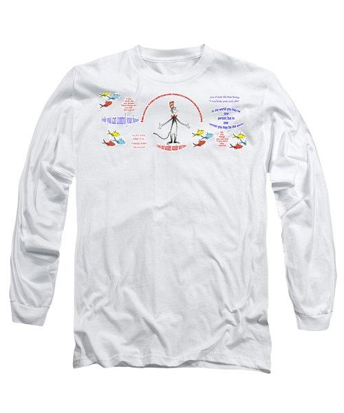 Life Words - Dr Seuss Long Sleeve T-Shirt
