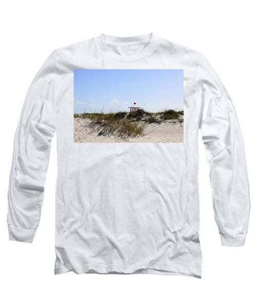 Long Sleeve T-Shirt featuring the photograph Lifeguard Station by Chris Thomas